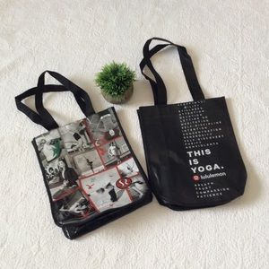 2 lululemon small shopping bags